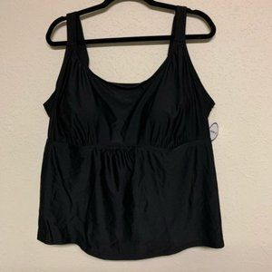 NWT Swimsuits For All black tankini size 26
